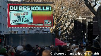 Anti-fascist demonstration in Cologne