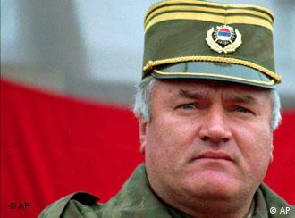 Archive photo of Bosnian Serb military leader Mladic