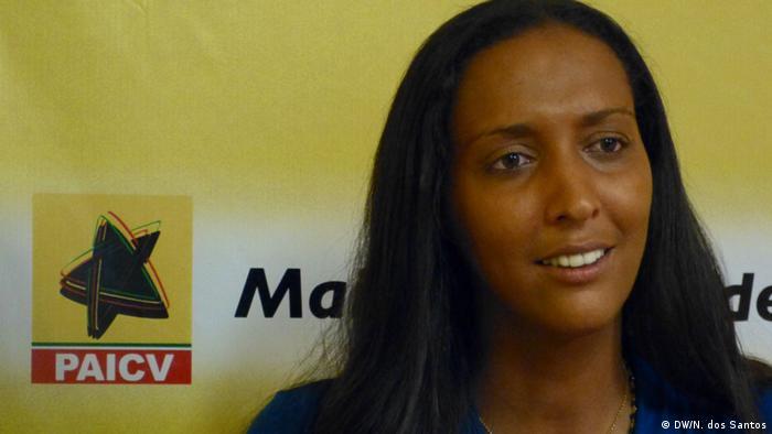 Janira Hopffer Almada, neue Präsidentin von PAICV (DW/N. dos Santos)