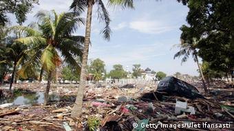 Banda Aceh, Indonesia decimated by the late 2004 tsunami