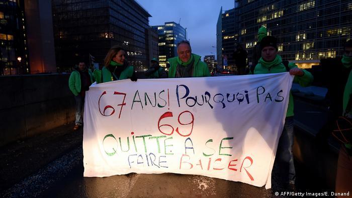 Generalstreik in Belgien (Foto: Getty Images)