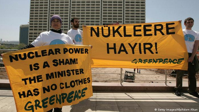 Turkish rally aginst nuclear power stations ADEM ALTAN/AFP/Getty Images