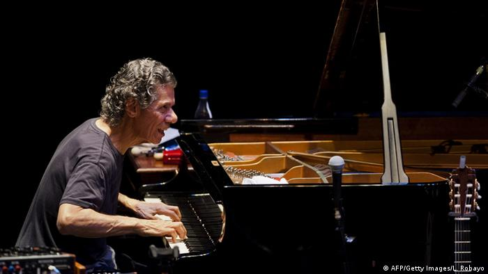 Chick Corea am 13.09.2014 (Copyright:LUIS ROBAYO/AFP/Getty Images)