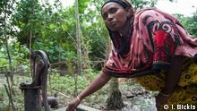 von Brunnenwasser vergiftete Frau in Bangladesh