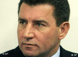 Former Croatian General Ante Gotovina, is seen during his initial appearance at the courtroom of the Yugoslav War Crimes tribunal in The Hague, the Netherlands, Monday Dec. 12, 2005. Gotovina is indicted on seven counts of crimes against humanity for the killings of at least 150 Serbs by troops under his command, the expulsion of tens of thousands of others and the destruction and pillaging of at least 11 Serb villages during the closing months of the Croatian war in 1995. Gotovina was third on the tribunal's most wanted list, preceded only by Bosnian Serb leader Radovan Karadzic and his top commander Ratko Mladic. (AP Photo/Ed Oudenaarden, Pool)