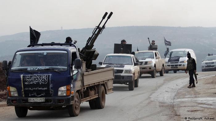 نیروهای جبهه نصرت در نزدیکی ادلب