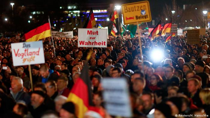 PEGIDA-Demonstration in Dresden (Foto: Reuters)