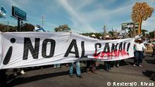 Demonstration gegen Bau des Nicaragua-Kanals