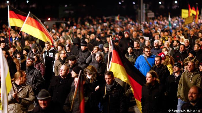 Deutschland PEGIDA Demonstration in Dresden