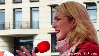 Manuela Schwesig bei einer Equal pay day Veranstaltung in Berlin 2014