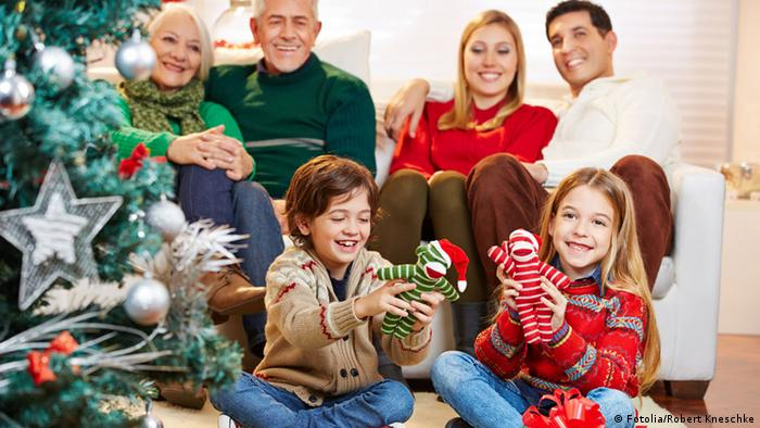Weihnachten Familie Geschenke