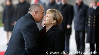 Меркел и Борисов в Берлин през декември 2014 година