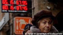 Symbolbild - Rubel auch nach Riesen-Zinsschritt auf Talfahrt