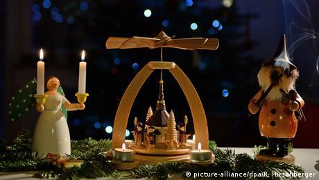 Weihnachtspyramide, Lichterengel & Räuchermännchen