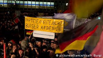 Kundgebung der Pegida in Dresden 15.12.2014