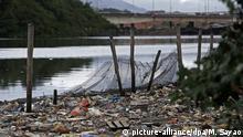 Brasilien Verschmutzung Guanabara-Bucht in Rio