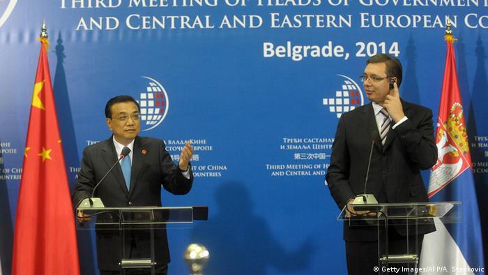 Serbien Premierminster Treffen in Belgrad Li Keqiang China und Aleksandar Vucic