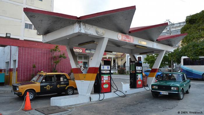 Gasolinera en la Habana.