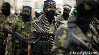 Palästinenser Gaza Militärparade von Hamas in Gaza City