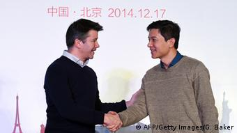 Baidu und Uber CEOs in Peking 17.12.2014