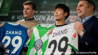 Deutschland Fußball Bundeliga Vfl Wolfsburg Neuzugang Xizhe Zhang