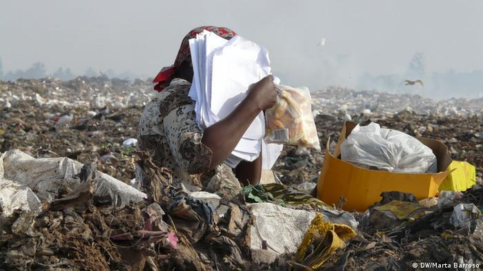 Mosambik Maputo Müllhalde von Hulene/Lixeira de Hulene (DW/Marta Barroso)
