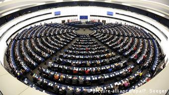 зал пленарных заседаний Европарламента в Страсбурге