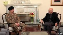Gen Raheel Sharif Pakistan Army chief in a meeting with Afghan president Ashraf Ghani in Kabul, Afghanistan. General Sharif visited Kabul after a deadly attack on pre-Military school in peshawar, pakistan.Photo: ARG ARG is Afghanistan presidential palace. we have the permeation of using the photos of ARG.
