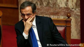 Großaufnahme von Premier Samaras (Foto: Reuters)