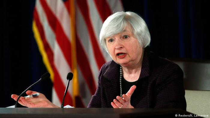 US-Notenbank-Chefin Yellen 17.12.2014 (Reuters/K. Lamarque)