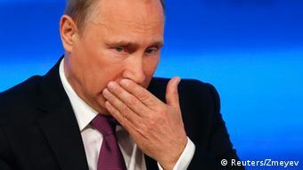 Putin at a press conference