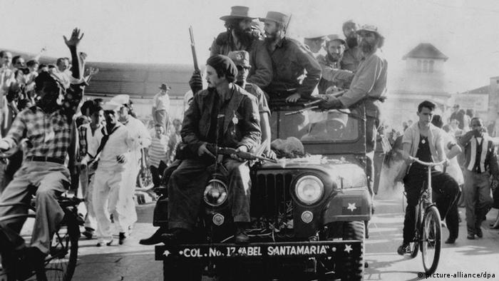 Fidel Kastro na džipu, 8 januar 1959.