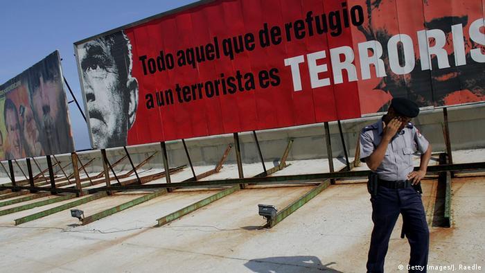 George W. Bush auf einem Schmäh-Plakat in Havanna