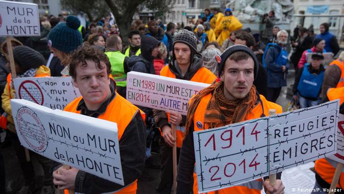 Internationaler Tag der Migranten Demo in Calais 18.12.2014