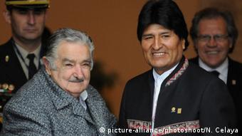 Uruguay - Präsident Jose Mujica und Boliviens Präsident Evo Morales
