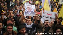 Gaza Stadt Demonstration Pro Mohammed Dahlan 18.12.2014