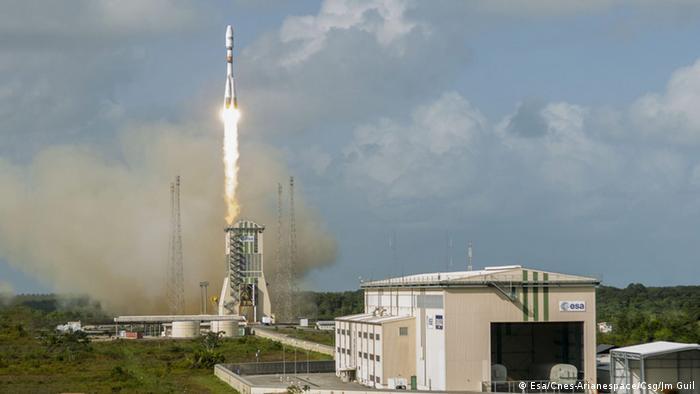 Kourou Sojus Rakete Start ESA 18.12.2014