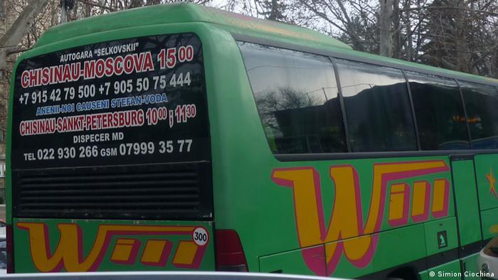 A green bus.