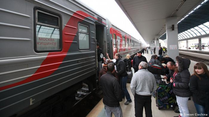 A red and gray train