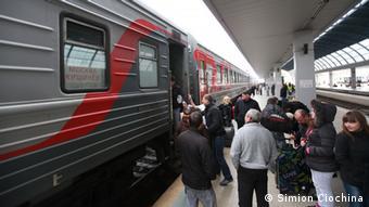 Zug Chisinau - Moskau (Foto: DW/Ciochina)