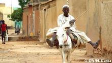 Mann auf einem Esel in Zinder, Niger