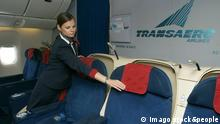 60176230 Date 23 07 2013 Copyright Imago Russian Look Russia Moscow Working everyday Life of The Transaero Airlines in Picture Transaero S Business Class Cabin PUBLICATIONxINxGERxSUIxAUTxHUNxONLY Society Economy Airline Aircraft Airport Photo Story x2x 2013 horizontal Civil Aviation Cabin Aircraft Interior Airliner Plane Air Hostess Flight attendant o0 Traffic Aviation Cabin Indoors o0 world of work Stewardess Flight