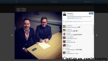 ***ACHTUNG: Nur zur Berichterstattung über den Bezug Instagram/Hochzeit Elton John&David Furnish!*** 21.12.2014 http://instagram.com/eltonjohn/