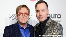 Elton John und Lebenspartner David Furnish 2014
