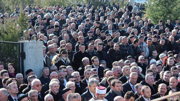 A commemorative ceremony in Bulgaria
