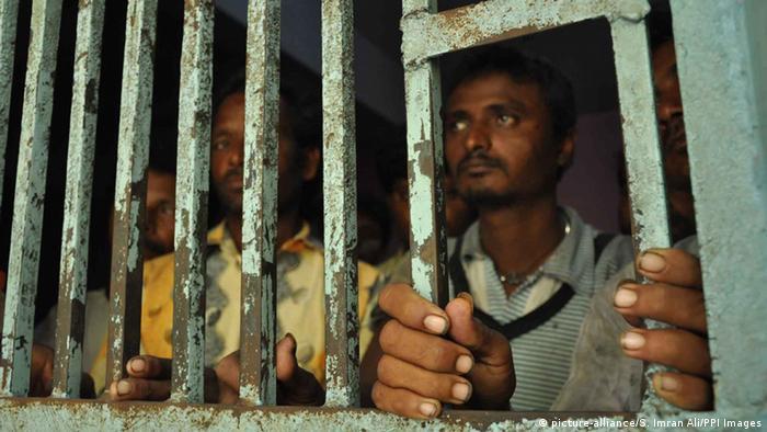 Polizeizelle in Pakistan - Indische Fischer