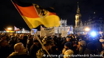 Pegida demonstrators in Dresden