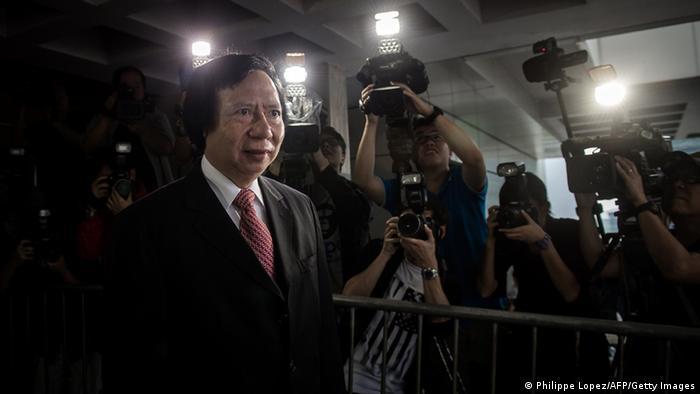 Der Immobilien-Unternehmer Thomas Kwok steht vor dem Gericht in Hongkong (Foto: PHILIPPE LOPEZ/AFP/Getty Images)