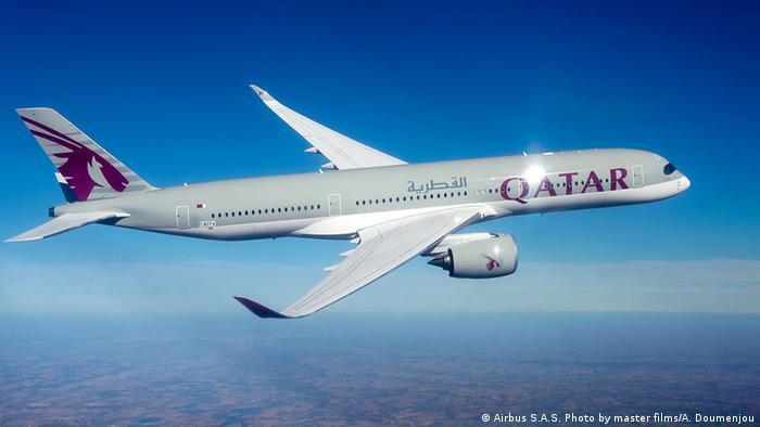 A Qatar Airways' Airbus A350 XWB