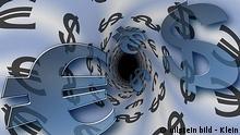 Symbolbild Kursverluste Euro und Dollar